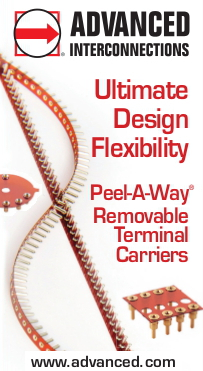 Peel-A-Way Removable Terminal Carriers from Advanced Interconnections